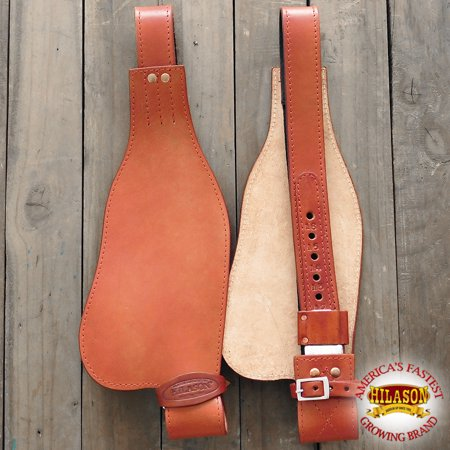 HILASON LEATHER YOUTH SADDLE REPLACEMENT FENDER PAIR WITH HOBBLE STRAPS