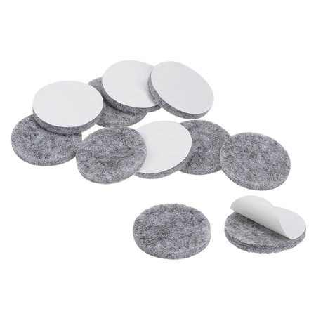 Furniture Pads Adhesive Felt Pads 23mmx3mm Floor Protector Round Gray 48Pcs - image 6 of 6