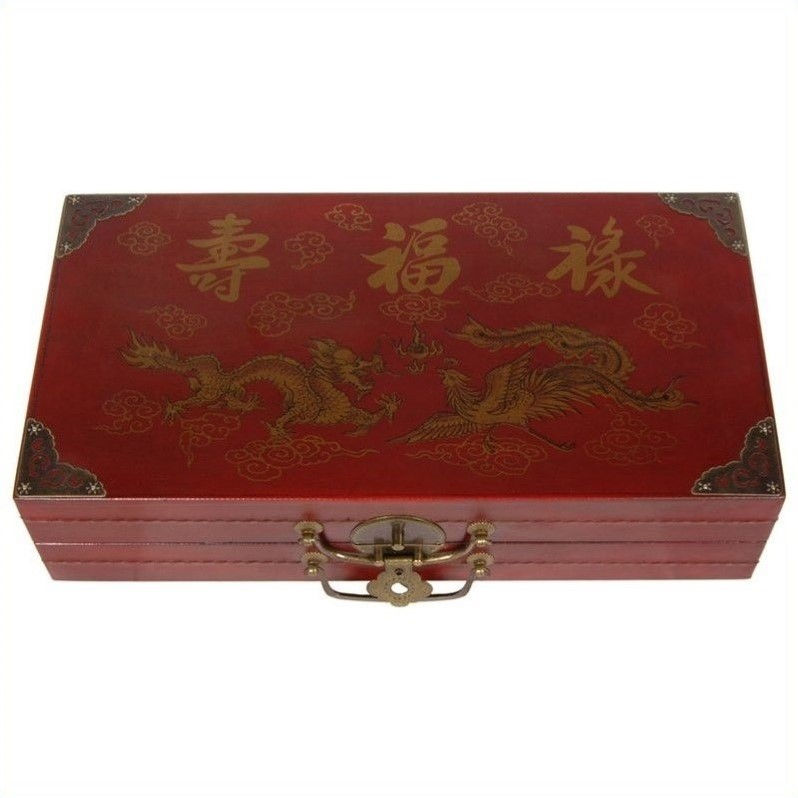 Oriental Furniture Chess Set Box in Red by Oriental Furniture