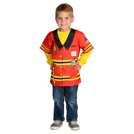Firefighter Costume (My 1st Career Gear Firefighter Top, One Size Fits Most, Ages)