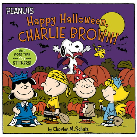 Happy Halloween, Charlie Brown! [With Stickers] (Paperback) (The 12 Days Of Halloween Book)