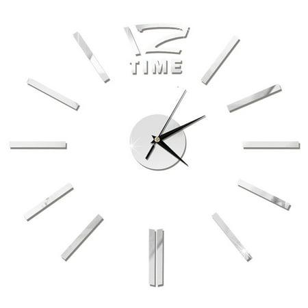 Modern DIY Wall Clock 3D Stirpes Analog Watch Clock Sticker Art Decal for Home Decor Color:Gold - image 8 de 8