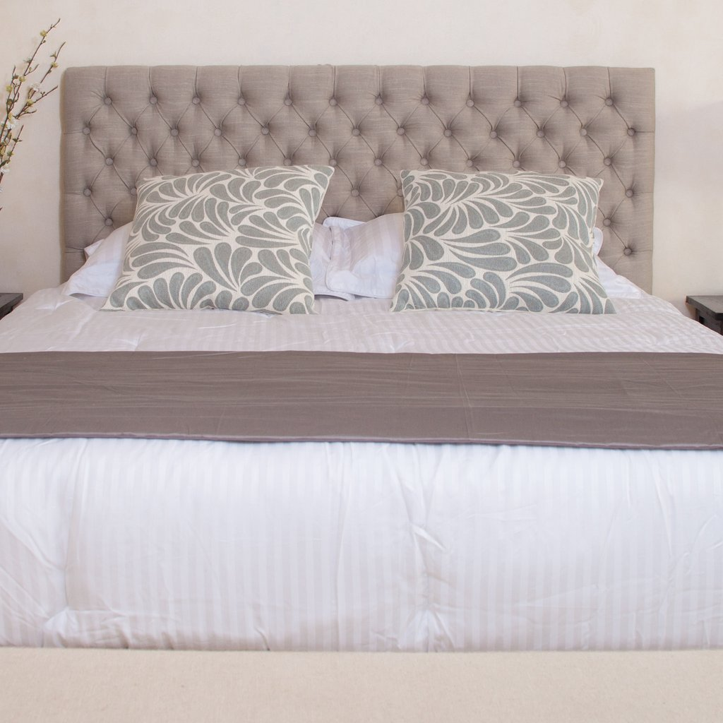 Denise Austin Home Seymour Adjustable Button Tufted Headboard