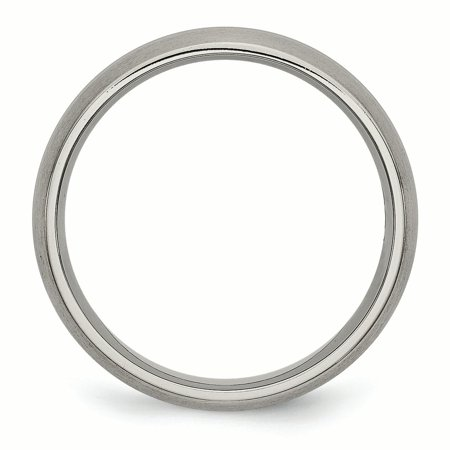 Titanium Grooved 6mm Brushed Wedding Ring Band Size 9.50 Fashion Jewelry Gifts For Women For Her - image 3 of 10