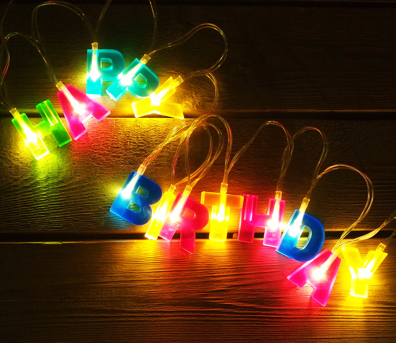 TORCHSTAR LED Decorations Lights HAPPY BIRTHDAY Letter Decoration String Rope