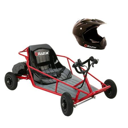 Atv Dune Buggy (Razor Dune Buggy Electric Runner Kids Car/Cart & Youth Full Face Sport Helmet )