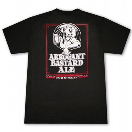 Arrogant Bastard 17391XL Stone Brewing Co. Ale You Are Not Worthy Black T-Shirt, Extra Large