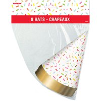 Donut Party Hats, 8ct