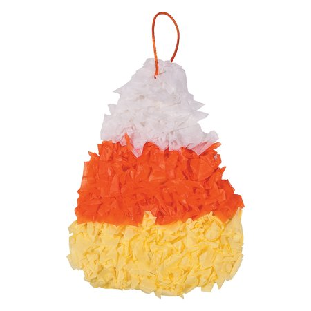 Fun Express - Candy Corn Tissue Crinkle CK-12 for Halloween - Craft Kits - Hanging Decor Craft Kits - Tissue Paper Crafts - Halloween - 12 Pieces](Halloween Candy Craft)