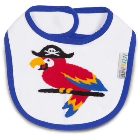 Izzy & Owie One Size Fits All Blue Pirate Parrot Bib (Izzy Pirate)