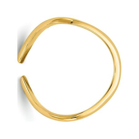 14k Yellow Gold Polished Toe Ring - image 4 of 5