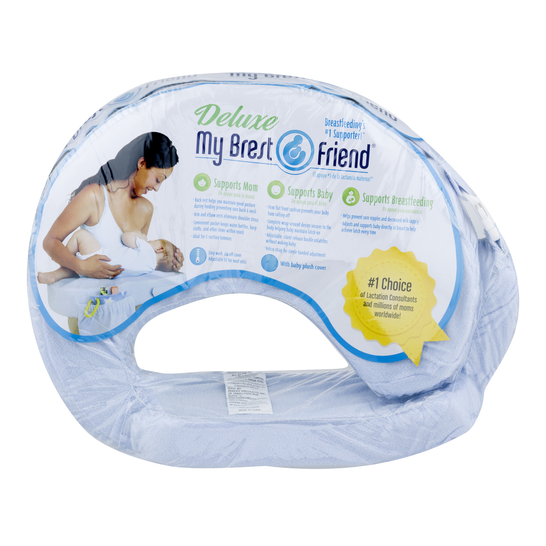 Deluxe My Brest Friend Breast Feeding Support - Blue, 1.0 CT