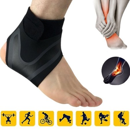 Adjustable Ankle Foot Support Elastic Brace Guard Football Basketball Left S