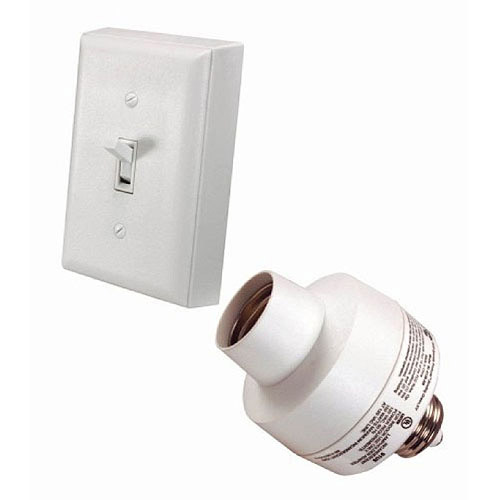 Heath-Zenith Basic Solutions Wireless Switch and Socket in White