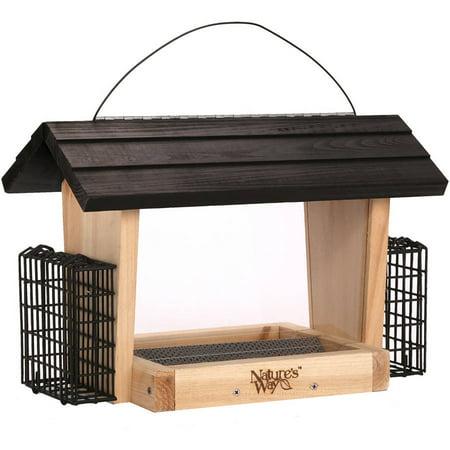 Way Hopper - Nature's Way CWF19 6 qt Cedar Hopper Feeder with 2 Suet Cages