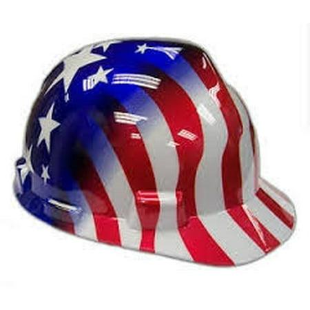 Msa Safety Works 10052945 American Stars And Stripes V Gard Protective Hard Hat  Medium