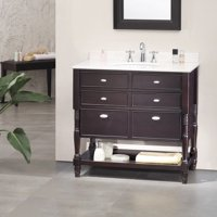 OVE Decors Elizabeth 36-inch Singe Sink Bathroom Vanity with Marble Top