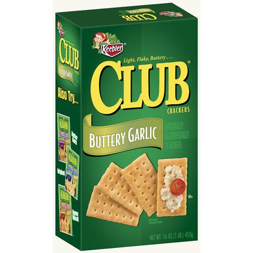 Keebler Club Buttery Garlic Crackers, 16 ounce box