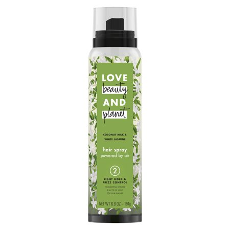 Love Beauty And Planet Light Hold & Frizz Control Hair Spray Coconut Milk and White Jasmine 6.7
