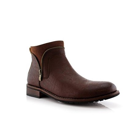 New Men's Classic Designer Zip Casual Chukka Ankle Boots