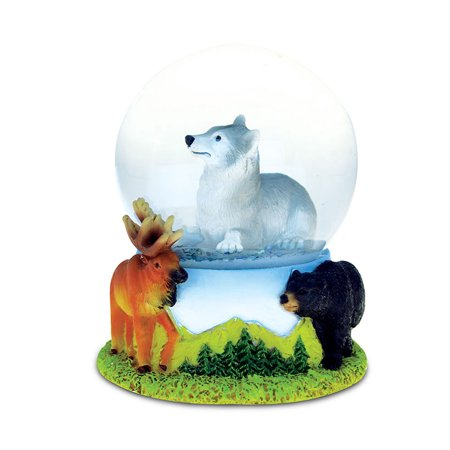 Snow Globe Wolf (65MM) (Snowglobe Stopper)