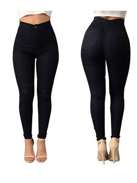 899af0a6fda75d Free shipping. Product Image Women High Waist Stretch Slim Fit Denim Skinny  Leggings Jegging Pencil Pants Trousers