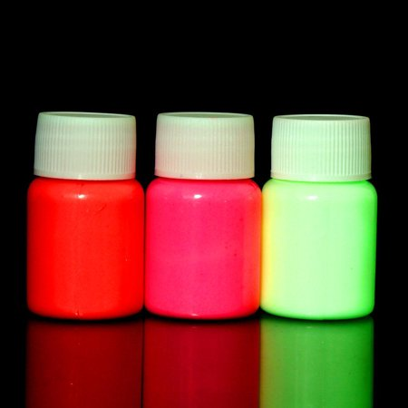 Fashion Arrival 1 pc UV Glow Neon Body Paint Pigment 20ml and Fluorescent Super Bright HFON - Glow In The Dark Body Paint