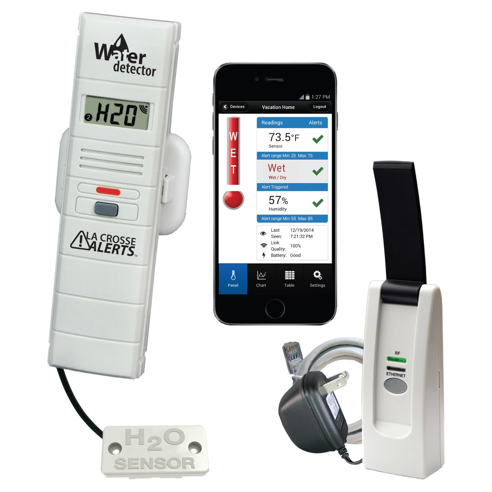 La Crosse Alerts Wireless Monitor System with Water Leak Detector Probe