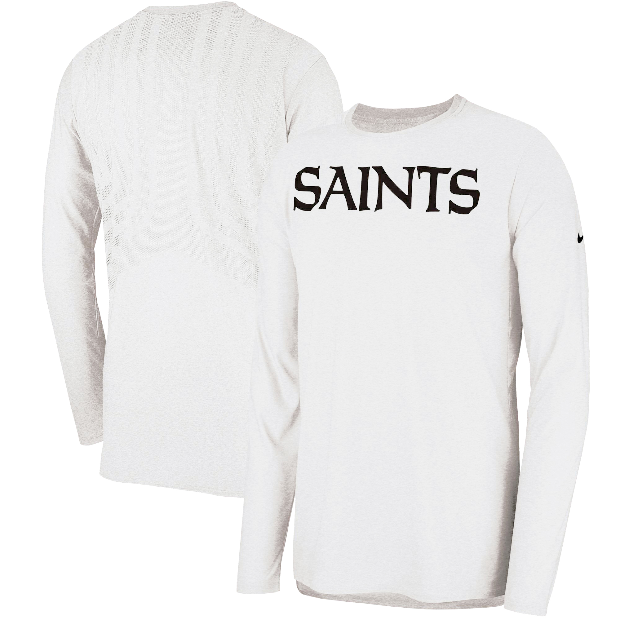 promo code 427eb 4df85 New Orleans Saints Nike Sideline Player Long Sleeve T-Shirt - White