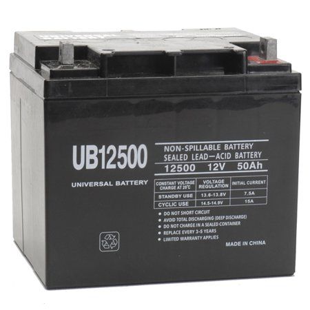 12v 50ah wheelchair battery replaces 44ah interstate bsl1161. Black Bedroom Furniture Sets. Home Design Ideas
