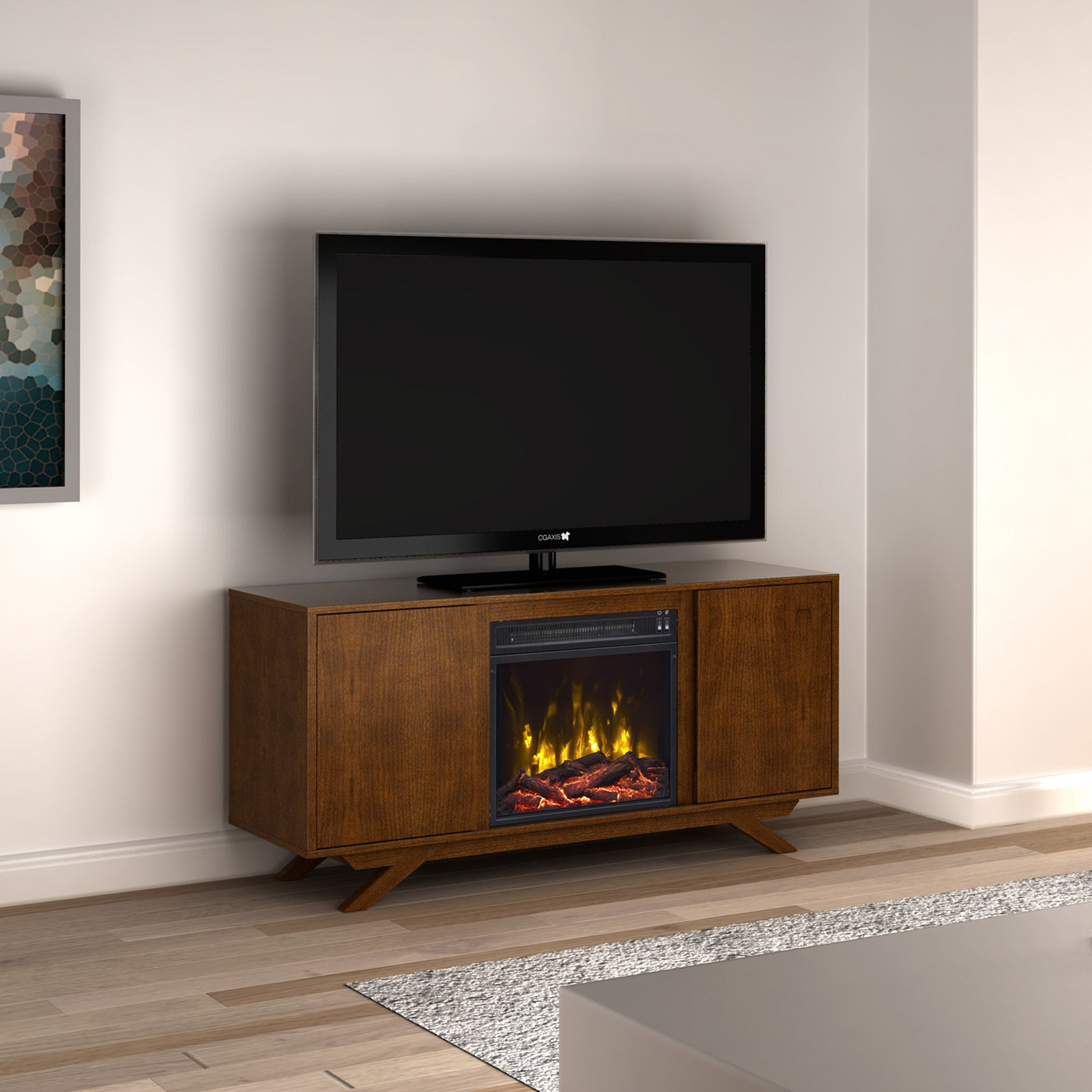 Classic Flame Dalewood Electric Fireplace Tv Stand Walmartcom