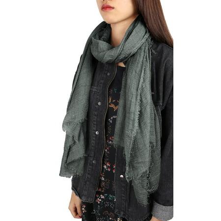 Unisex Cotton Linen Soft Fashion Long Scarf Hijab Wrap Shawl Headwear Scarf #10 ()