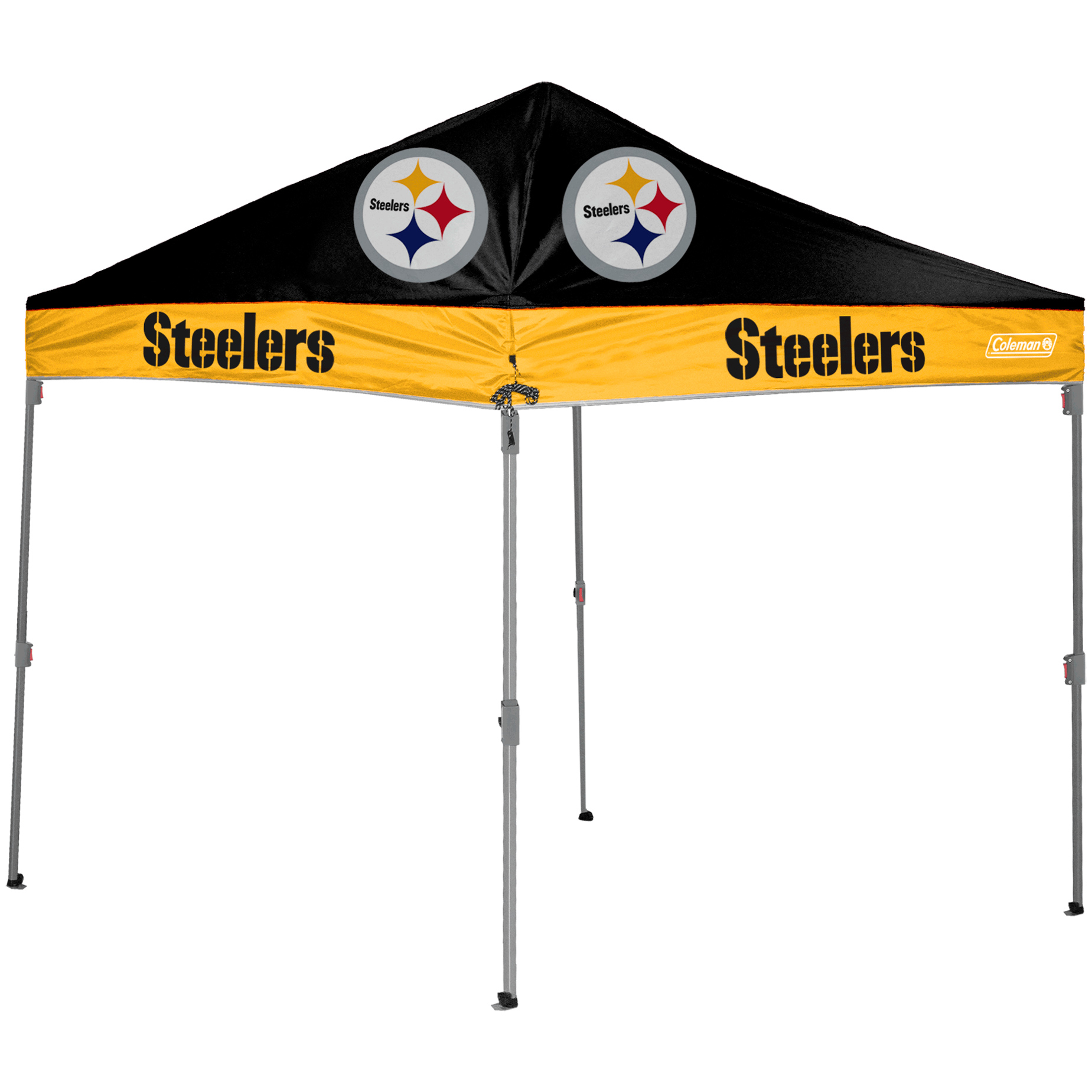 Pittsburgh Steelers Coleman 10' x 10' 2-Tone Straight Leg Canopy - No Size