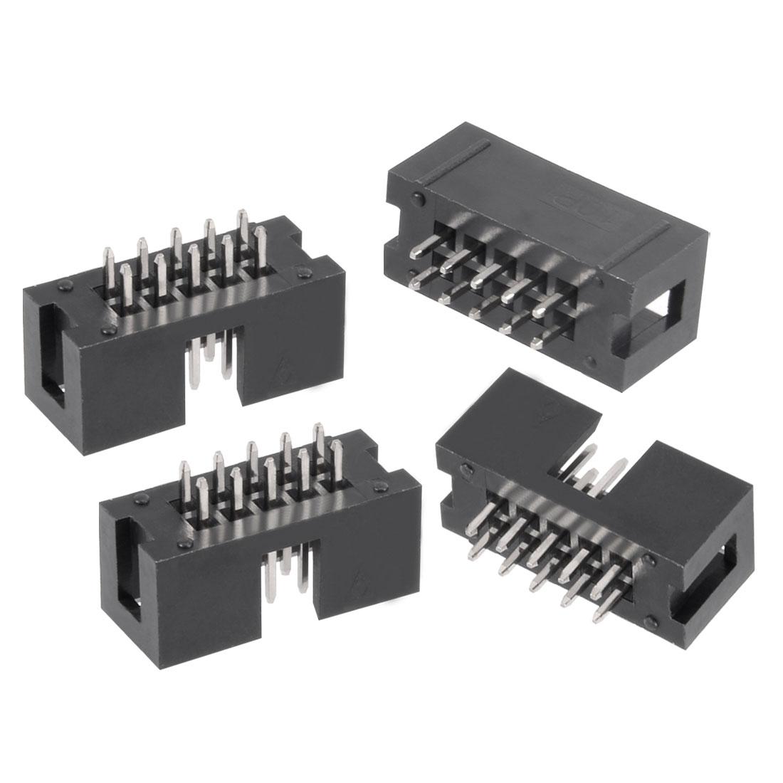 20Pcs 2.54mm Pitch 2x4-Pin / 2x5-Pin 2 Row Straight Box Header Connector PCB Board Socket - image 2 of 2