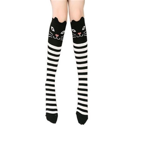 Children Kids Girl Animal Pattern Knee High Socks Cute Socks WH