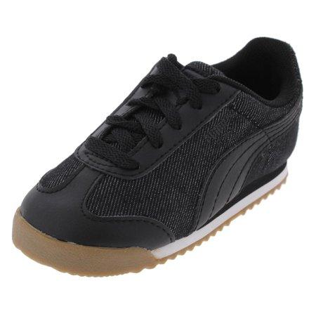 Puma Boys Roma Denim Low Top Running Athletic Shoes - Walmart.com 1849bd4d6