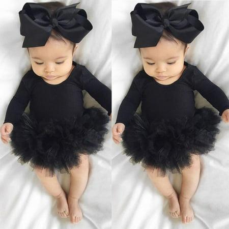 - Infant Newborn Baby Girls Romper Jumpsuit Bodysuit Clothes Headband Outfit Set 0-6 Months
