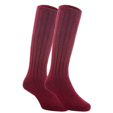 Aged Blended Wine - Lian Style Unisex Baby Children 1 Pair Knee-high Wool Boot Blend Socks Size 4-6Y  (Wine)