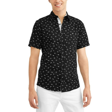 792b549fe09 Big Men s Conversational Printed Brushed Soft Short Sleeve Button-down Shirt  - Walmart.com