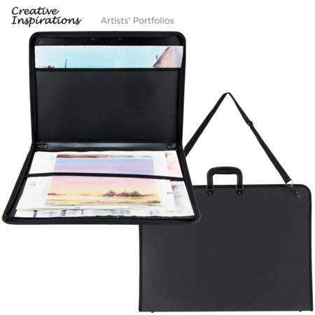 Creative Inspirations Durable Nylon Artist Art Portfolio Tote Carries Drawings Sketch Pads Books Canvas - Art Tote