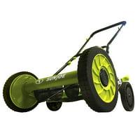 Sun Joe MJ504M Manual Reel Mower w/o Grass Catcher | 16 inch | 9 Height Positions