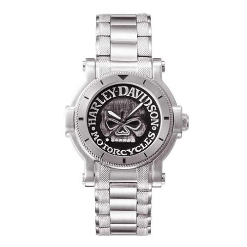 Harley-Davidson Men's Bulova Willie G Skull Wrist Watch 7...