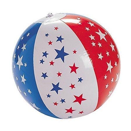 "9"" Inflatable Patriotic Star Beach Ball"