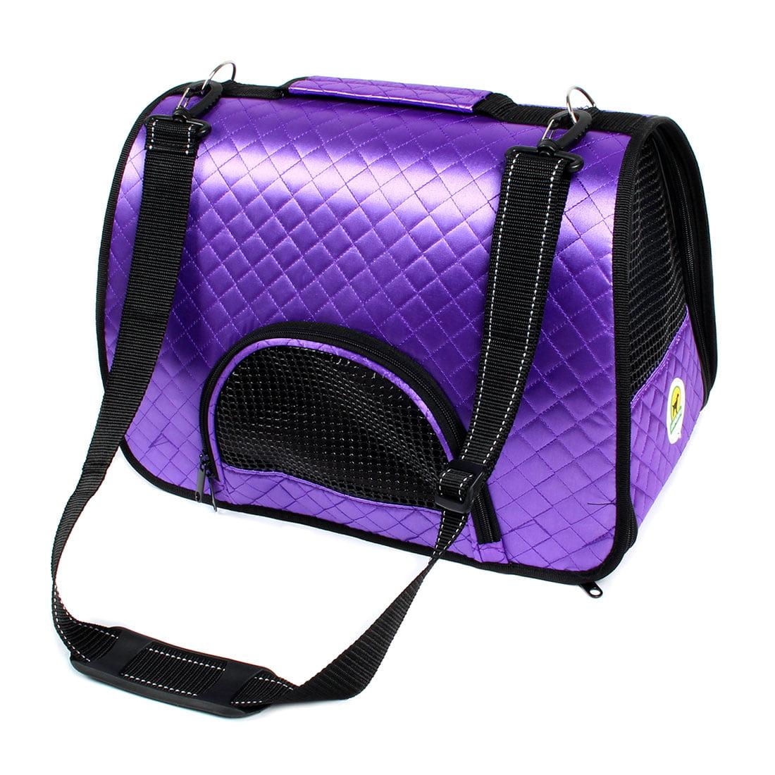 Outdoor Travel Nylon Meshy Zipper Closure Pocket Design Pet Dog Carrier Tote Bag