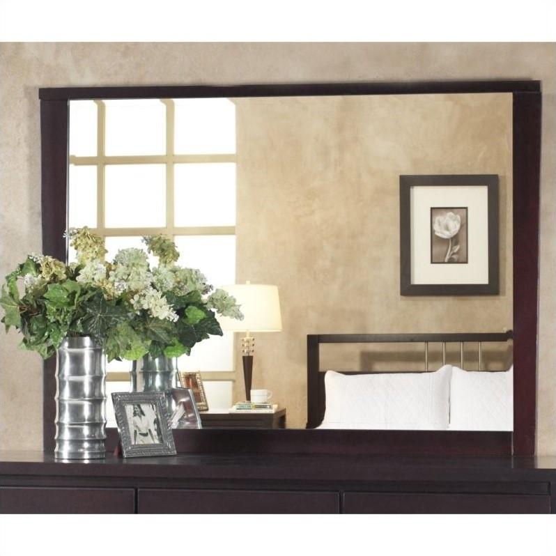 Modus Nevis Landscape Mirror in Espresso by Modus Furniture International