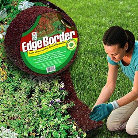 Easy Gardener Perm-A-Mulch 4.5 Inch x 8 Foot Red Garden Edging ...