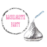 216 Bachelorette Party Favor Hershey's Kisses Stickers / Labels