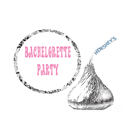 216 Bachelorette Party Favor Hershey's Kisses Stickers / Labels - Bachlorette Favors