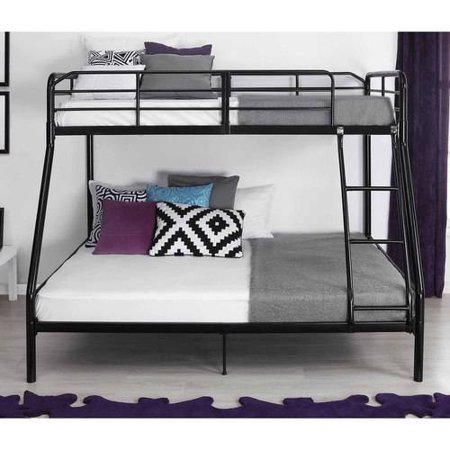 Mainstays Twin Over Full Bunk Bed Multiple Colors with 2 Mattresses