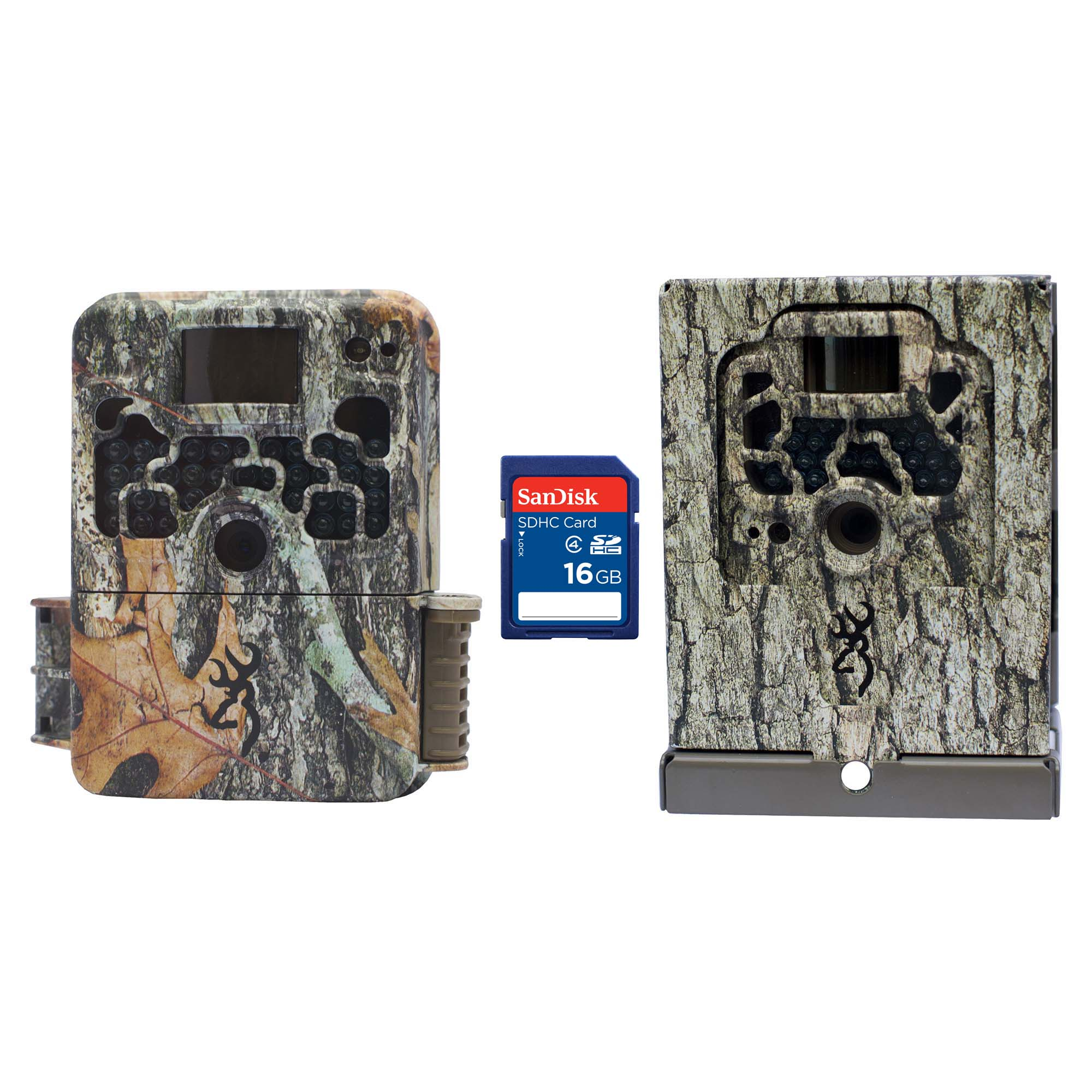 Browning Trail Cameras Strike Force Elite Game Camera + Security Box & SD Card by Browning Trail Cameras